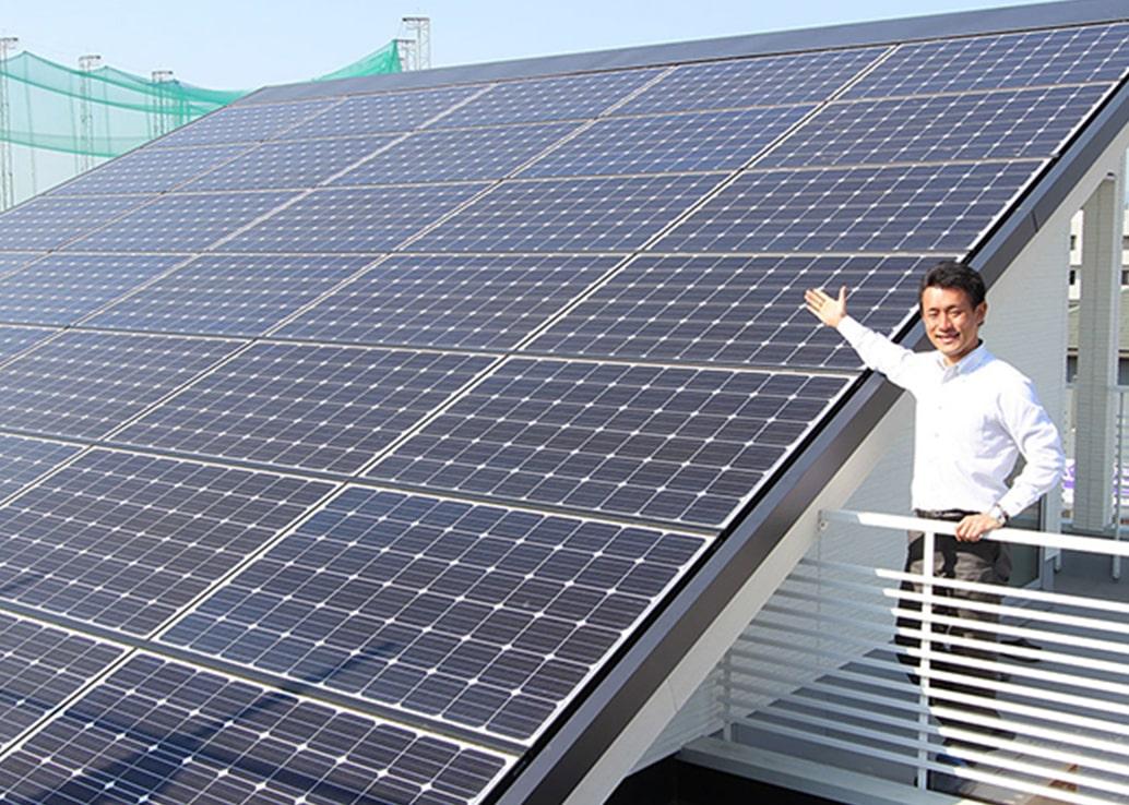 イメージ:大容量約8.96kWの太陽光発電