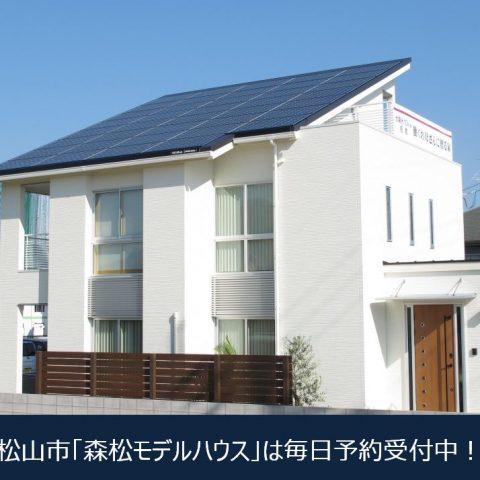 【松山市モデルハウス】毎日、見学予約受付中!お気軽にご来場ください。
