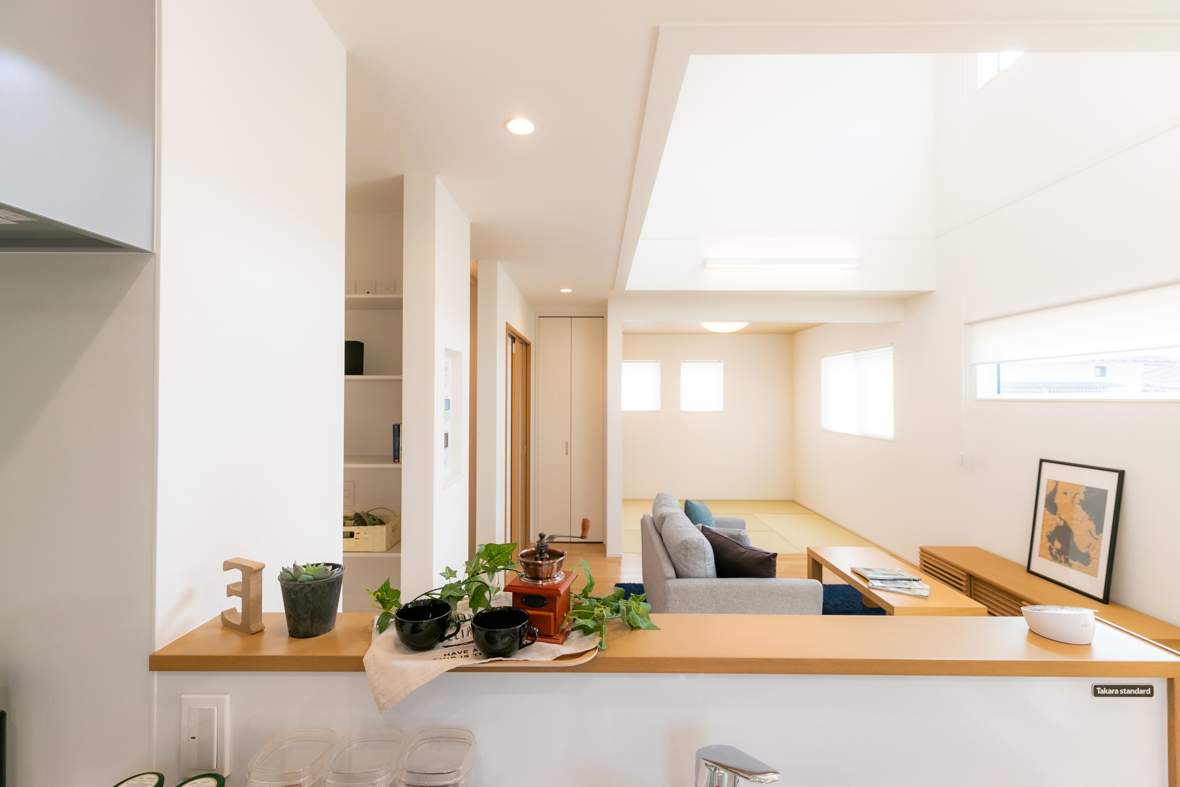施工事例 / 太陽の光で明るいリビングが魅力の家 (今治市W様邸)